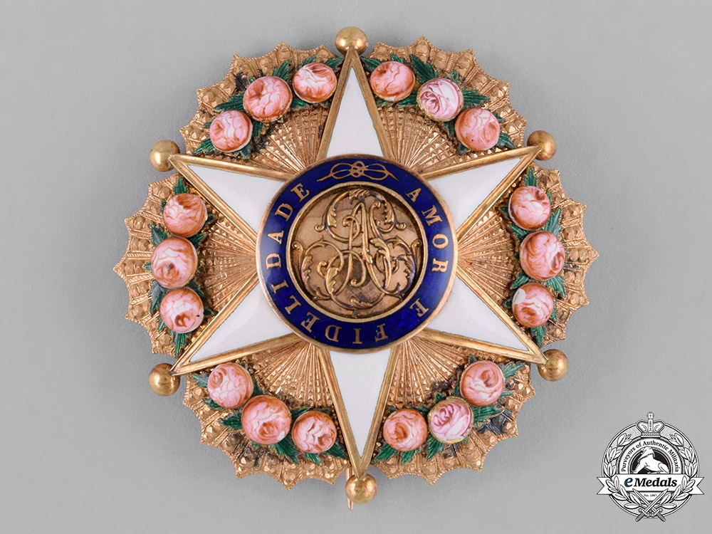 Brazil, Independent Empire. An Order of the Rose in Gold, Grand Dignitary Star, c.1870