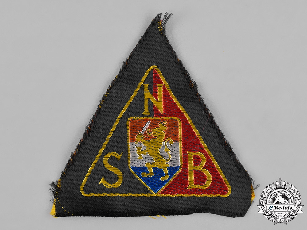 Netherlands, NSB. A NSB Black Shirts Sleeve Patch