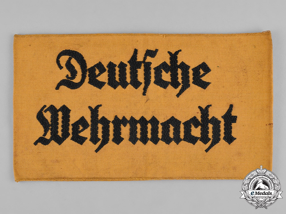 Germany, Wehrmacht. A Wehrmacht Civilian Assistant Armband