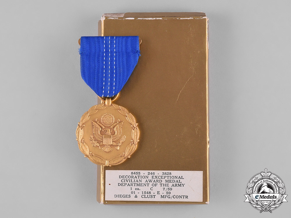 United States A Department Of The Army Decoration For Exceptional
