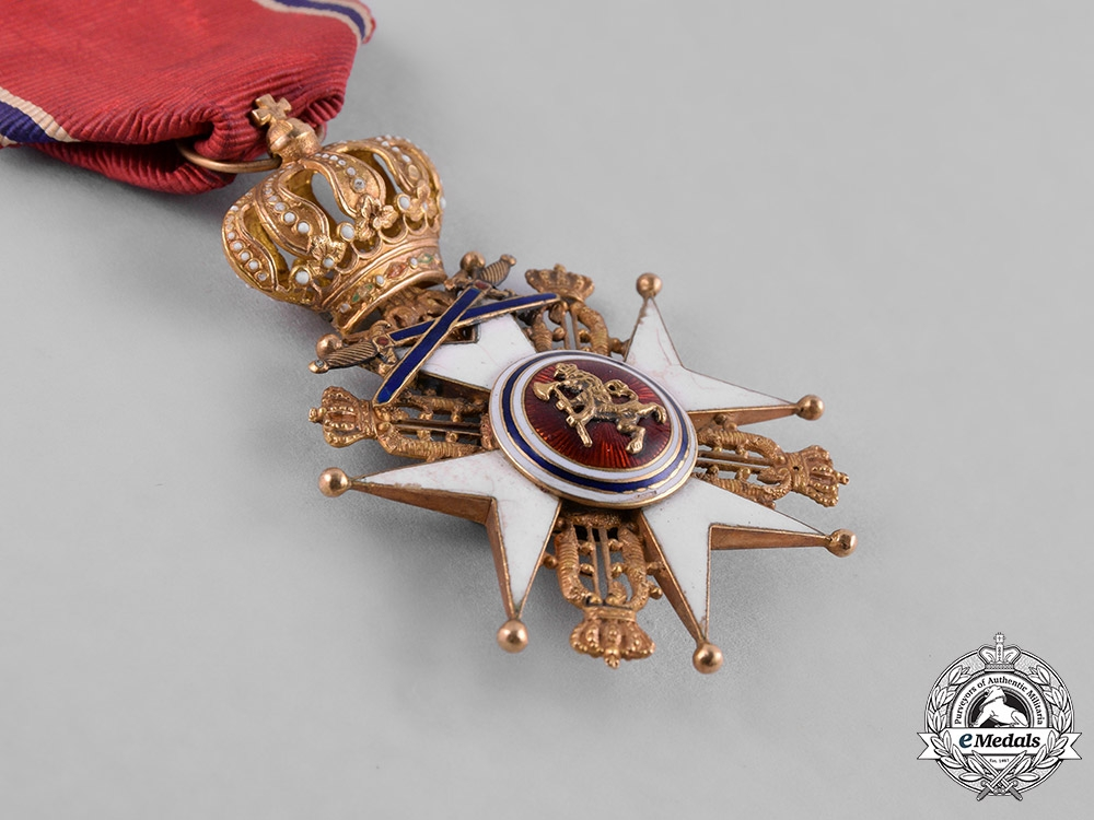 Norway, Kingdom. An Order of St. Olav in Gold, I Class Knight with Swords, by J.Tostnup, c.1880