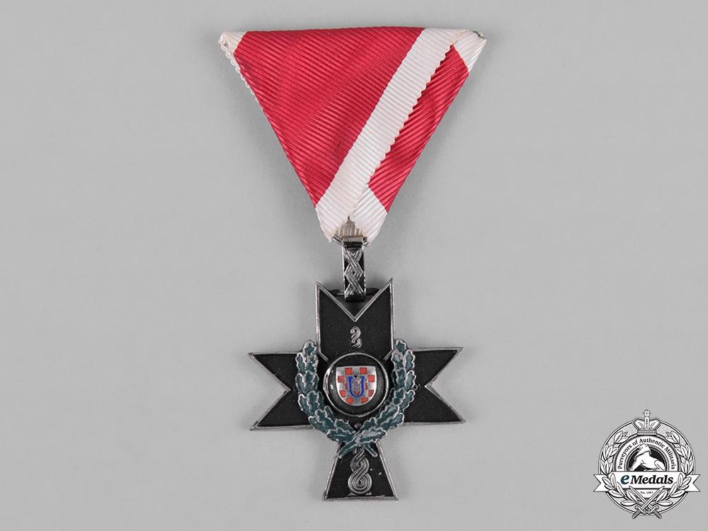 Croatia. A Military Order of the Iron Trefoil, IV Class with Croatia. A Military Order of the Iron Trefoil, IV Class with Oak Leaves, c.1941Oak Leaves, c.1941