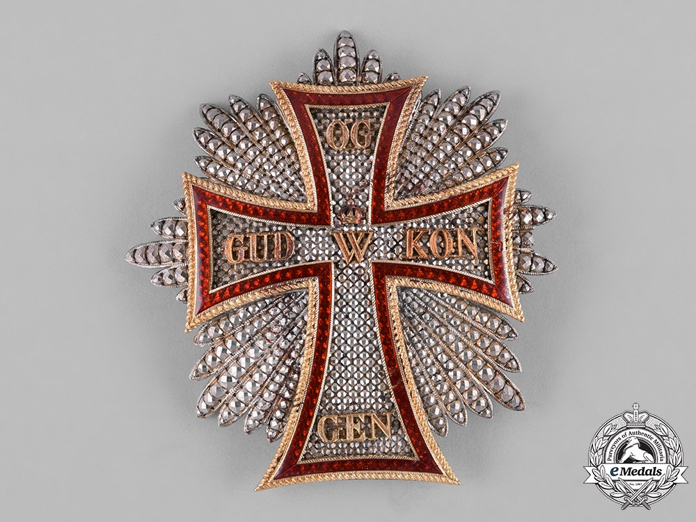Denmark, Kingdom. An Order of the Dannebrog, Grand Cross Star, by Gustave Wolfers, c.1900
