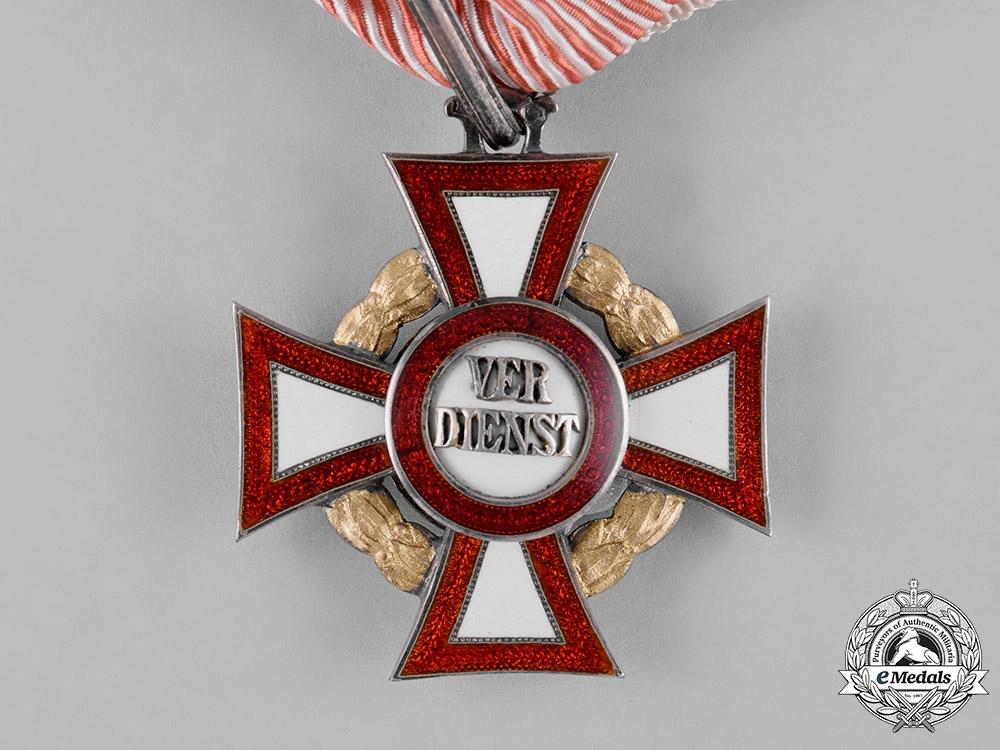 Austria, Empire. A Military Merit Cross, II Class Cross with III Class War Decoration, by Rudolph Souval, c.1915