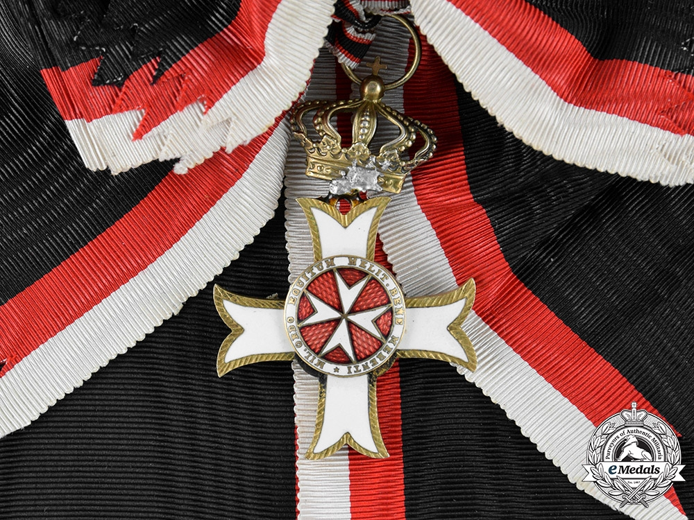 Italy, Kingdom. A Sovereign Military Hospitaller Order of Saint John of Jerusalem, Grand Cross, by Tanfani & Bertarelli, c.1920