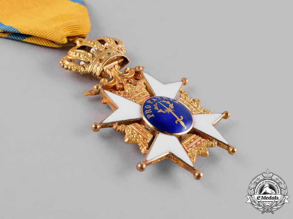 Sweden, Kingdom. An Order of the Sword in Gold, I Class Knight, c.1963