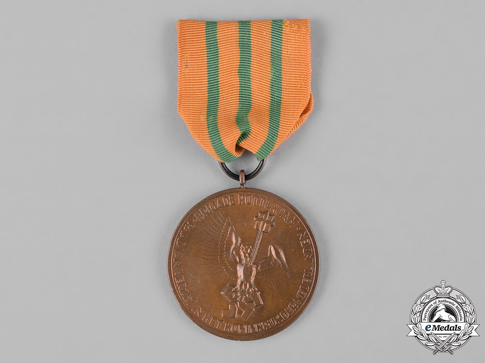 Netherlands, Kingdom. A Medal of the Rotterdam Brigade of the Council of Resistance, Named, c.1945