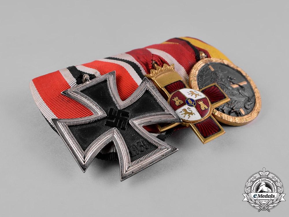 Germany, Wehrmacht. A Second War/Spanish Civil War Medal Bar & Ribbon Bar