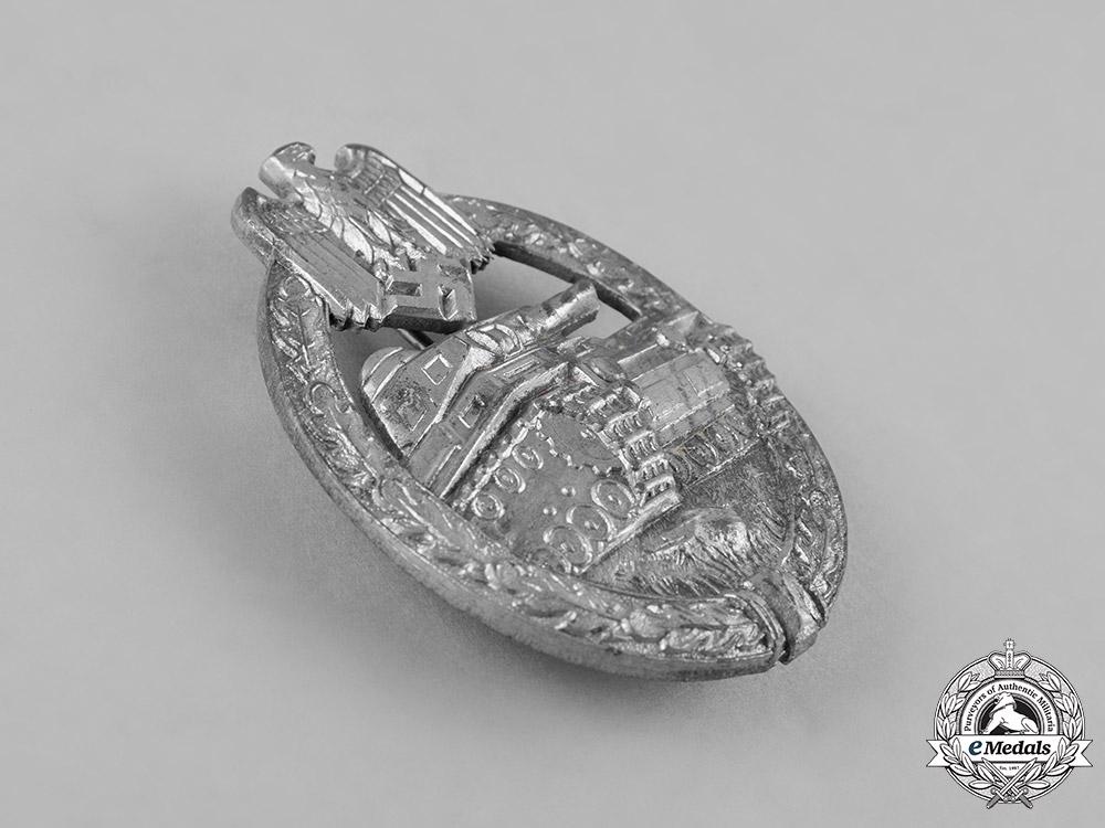 Germany, Heer. A Panzer Assault Badge, Silver Grade, by Hermann Aurich