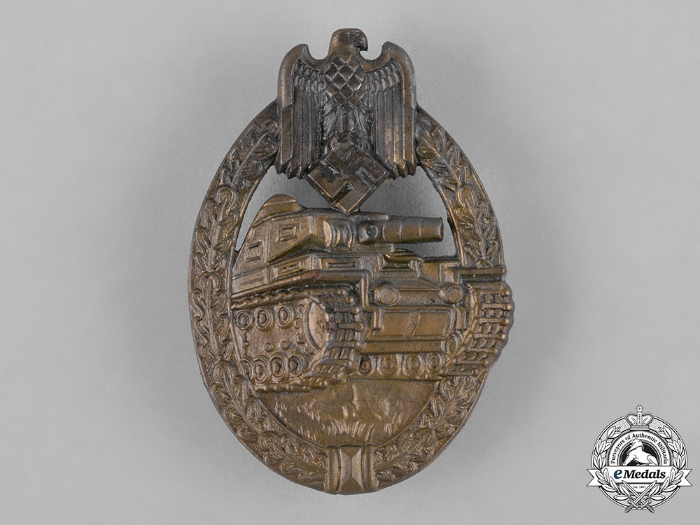 Germany, Heer. A Panzer Assault Badge, Bronze Grade, by E. Ferdinand Wiedmann