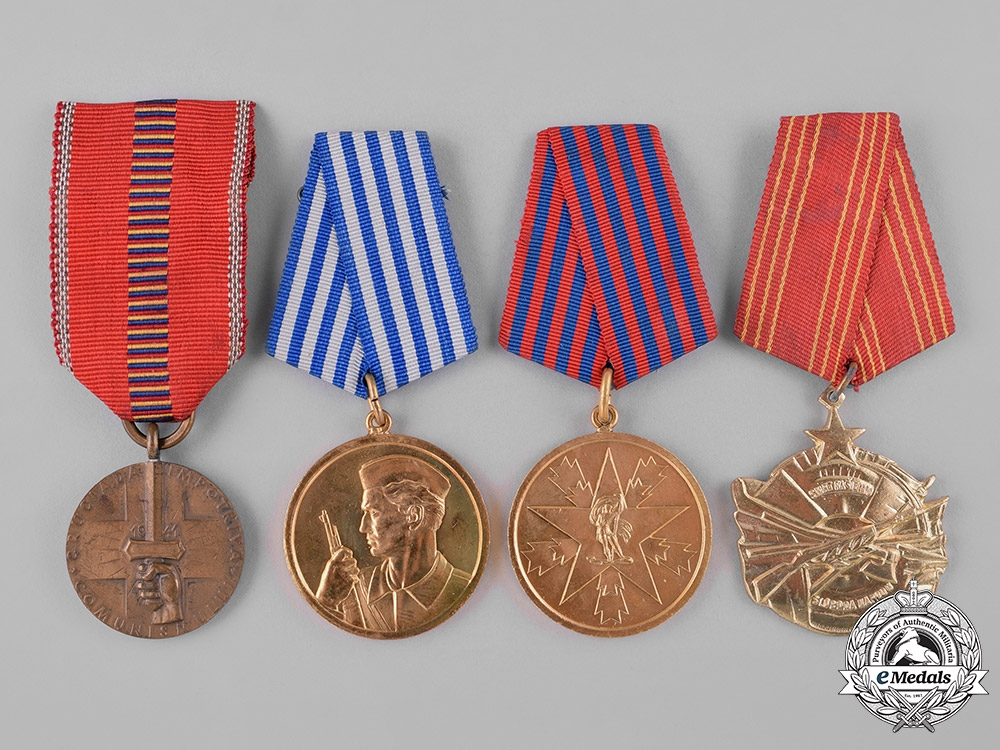 Romania, Kingdom; Yugoslavia, Socialist Federal Republic. Lot of Six Awards