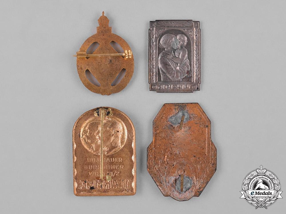 Austria, Imperial. Four Imperial First War Period Badges