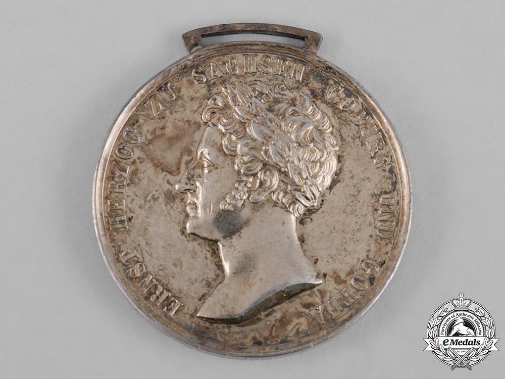 Saxe-Coburg and Gotha, Kingdom. A Saxe-Ernestine House Order Merit Medal, Gold Medal, c.1870