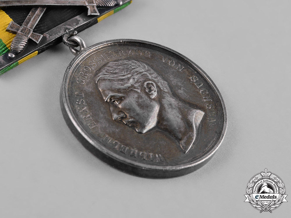 Saxe-Weimar, Duchy. A General Merit Medal, Silver Grade, with Clasp