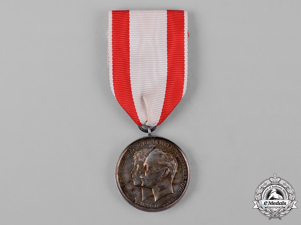 Hesse, Grand Duchy. A Medal for the Marriage of Grand Duke Ernst Ludwig, c.1894
