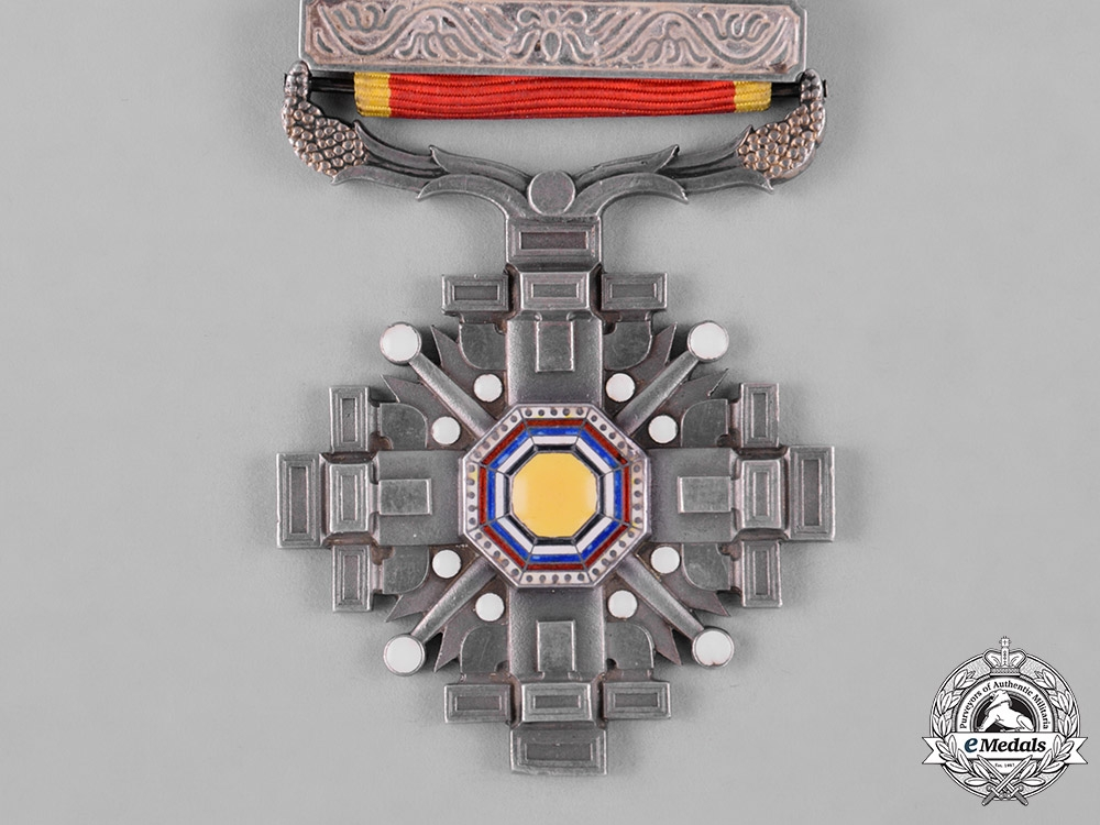 China, Manchukuo, Japanese Occupation. An Order of the Pillars of State, VI Class, c.1940