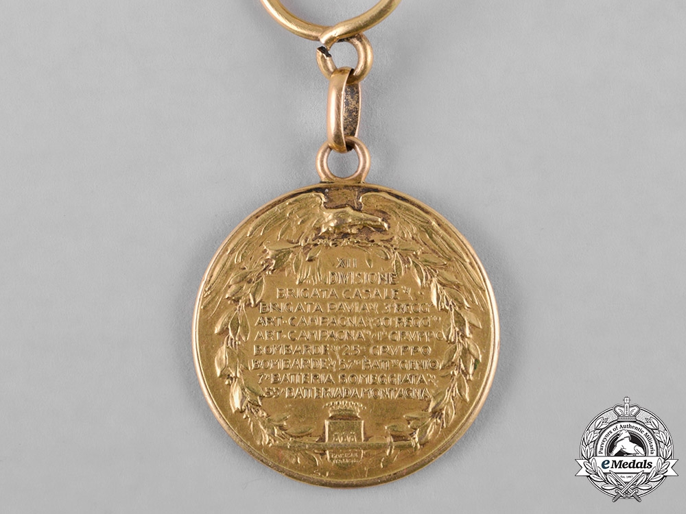 Italy, Kingdom. A Taking of Gorizia Commemorative Medal with Fob in Gold, c.1916