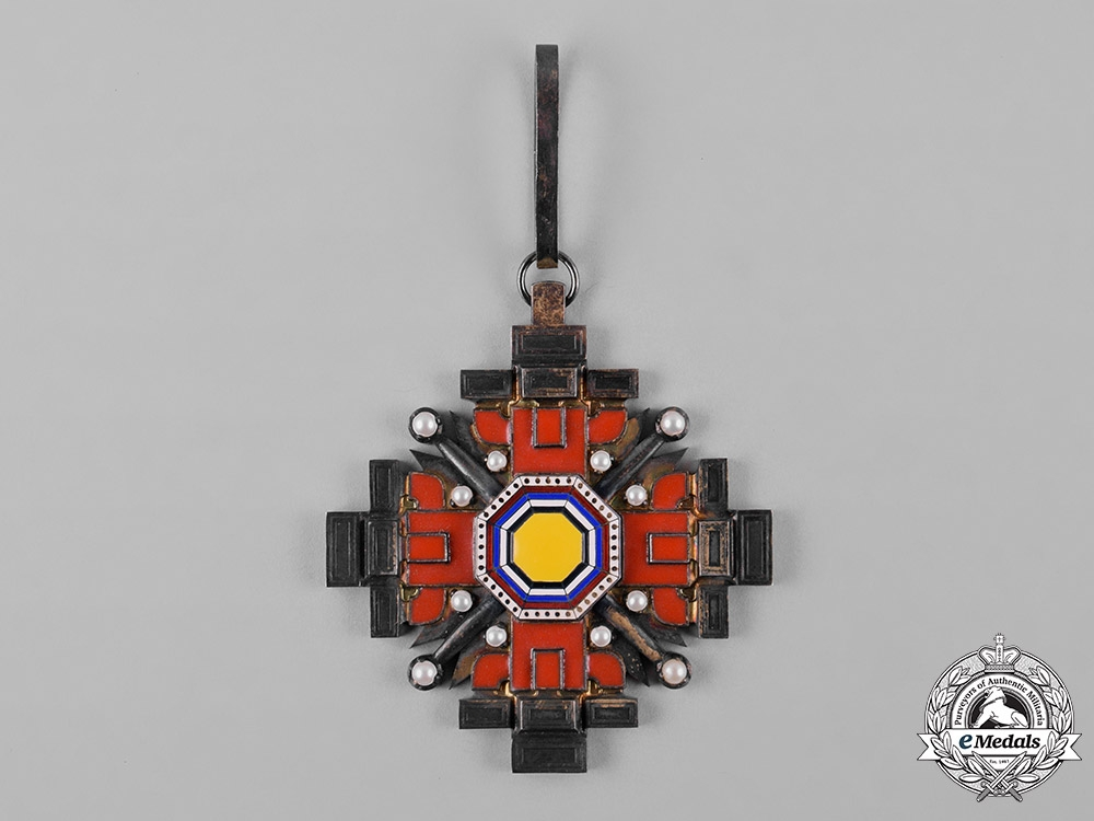 China, Manchukuo, Japanese Occupation. An Order of the Pillars of State, III Class Commander, c.1940