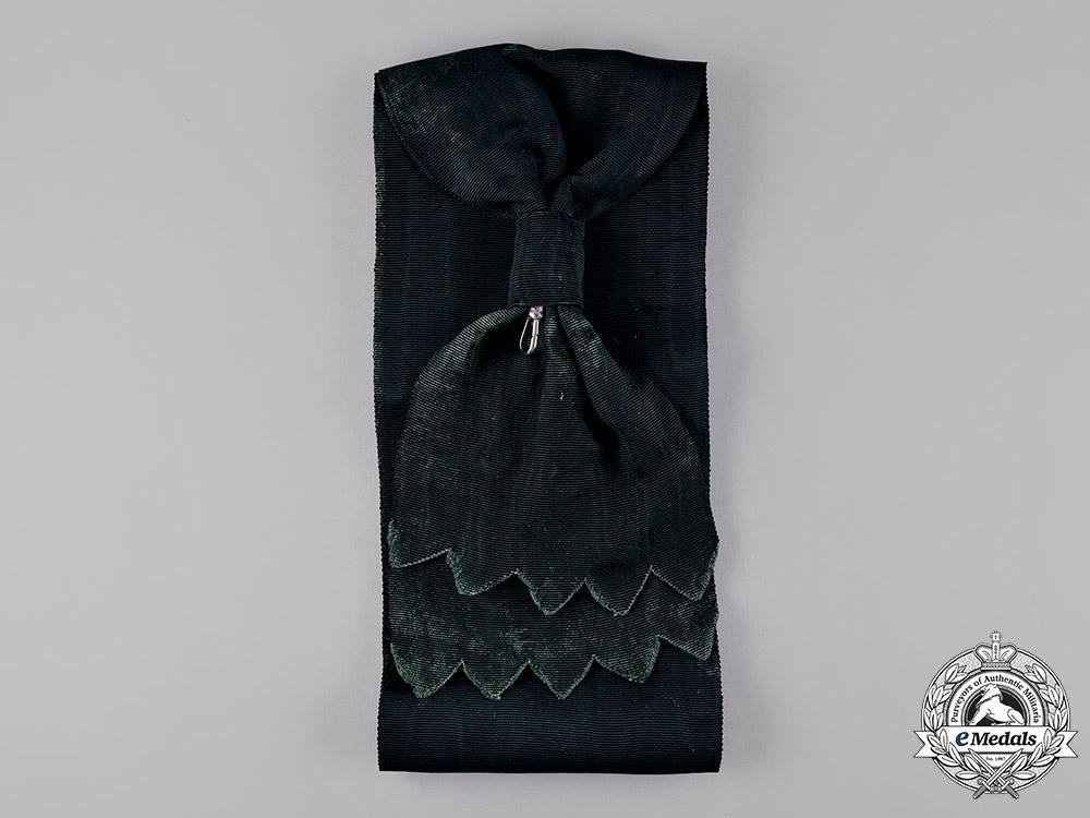 Saxony, Kingdom. An Order of the Rue Crown, I Class Grand Cross Sash
