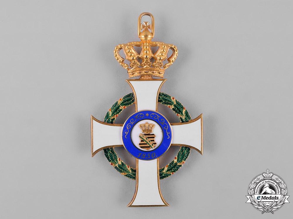 Saxony, Kingdom. An Albrecht Order in Gold, Grand Cross, by G.A. Scharffenberg, c.1900