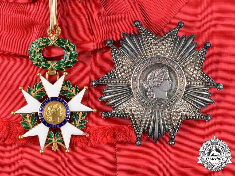 France, III Republic. A Legion D'Honneur in Gold, Grand Cross, by Ouizille & Lemoine, c.1870