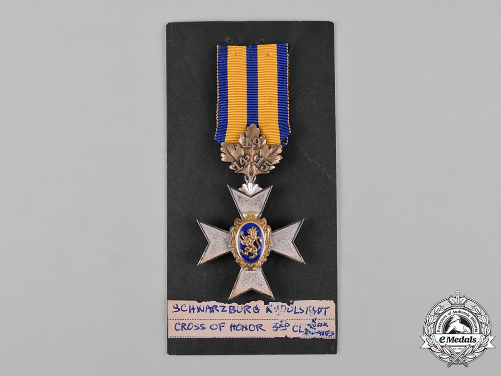 Schwarzburg-Rudolstadt. An Honour Cross, III Class Knight with Oak Leaves, c.1917