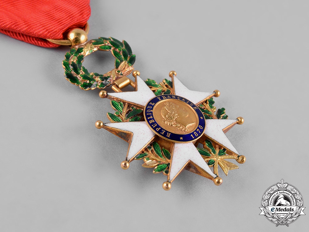 France, III  Republic. A National Order of the Legion of Honour in Gold, IV Class Officer, c.1955