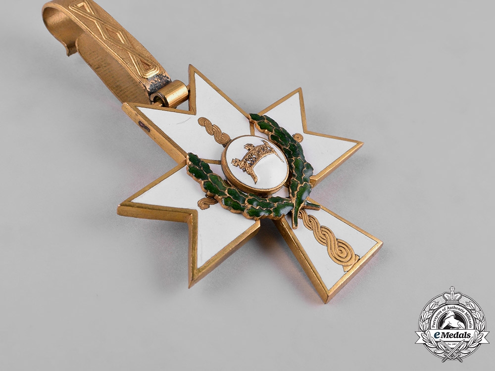 Croatia, Independent State. An Order of King Zvonimir's Crown, Grand Cross with Oak Leaves, by Braća Knaus, c.1941