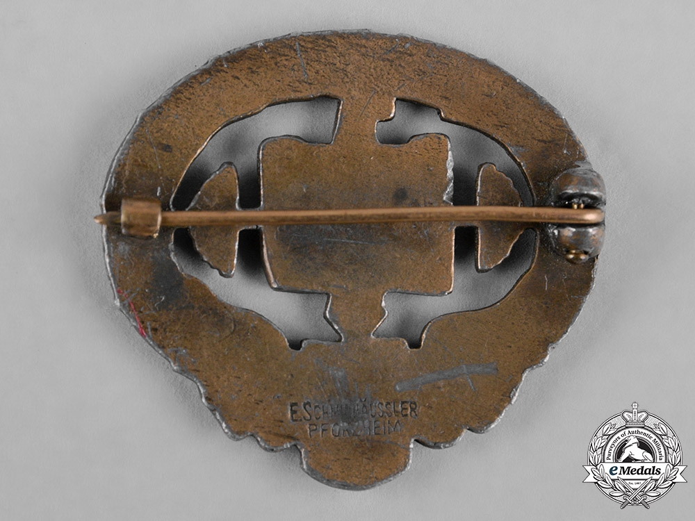Germany, Third Reich. A Heavy Athletics Badge, I Class, by E. Schmidhäussler
