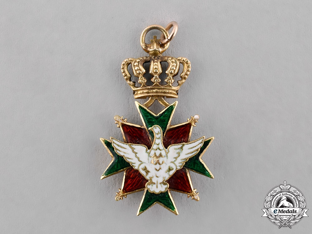 Saxe-Weimar, Duchy. A Miniature Order of the White Falcon in Gold, c.1900