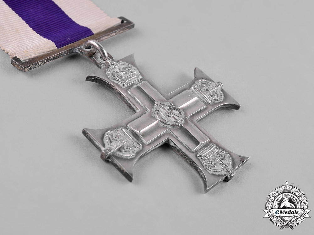 United Kingdom. A Military Cross to Capt. Pengelly, for Leadership at Ypres 1917, KIA 1918