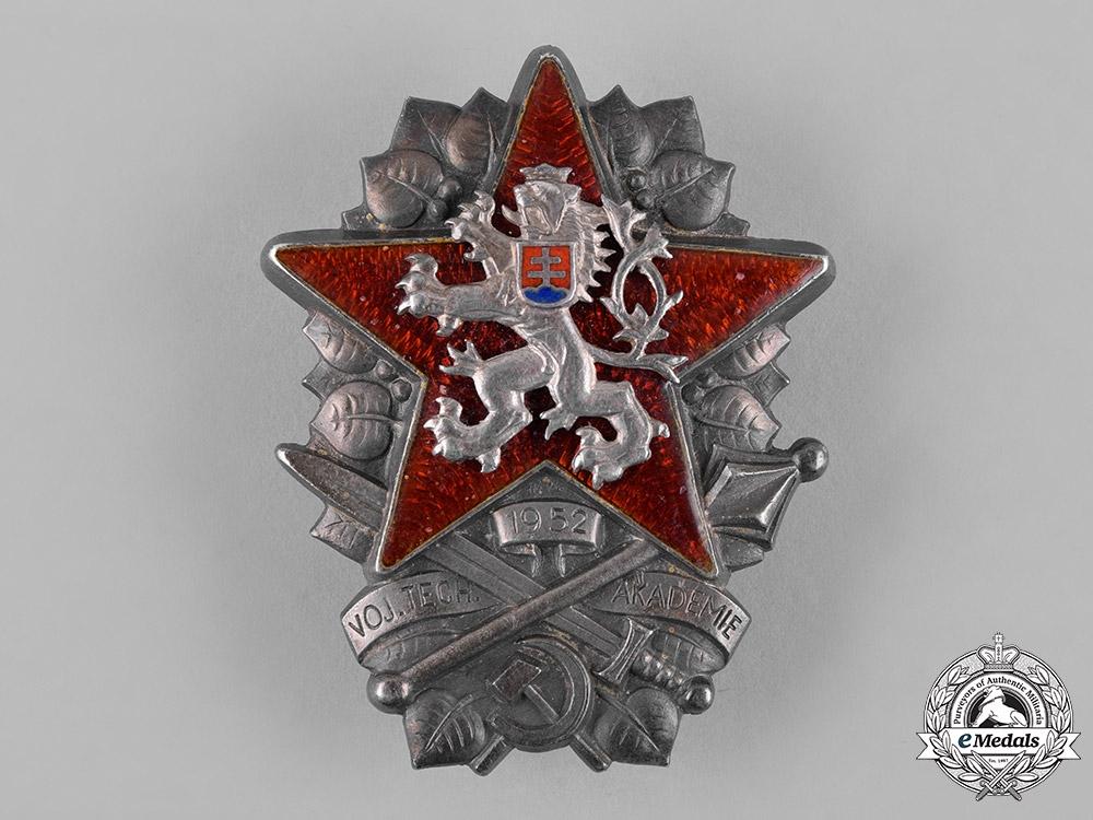 Czechoslovakia, Socialist Republic. A Military Technical Academy Graduation Badge, c.1952