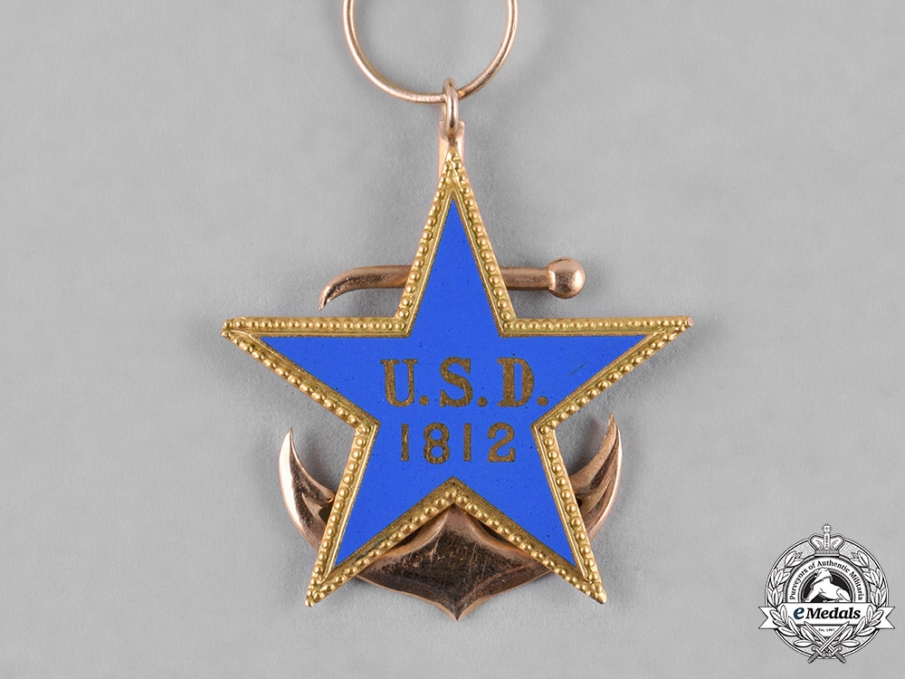 United States. A United States Daughters of 1812 Badge in Gold, by J.E.Caldwell