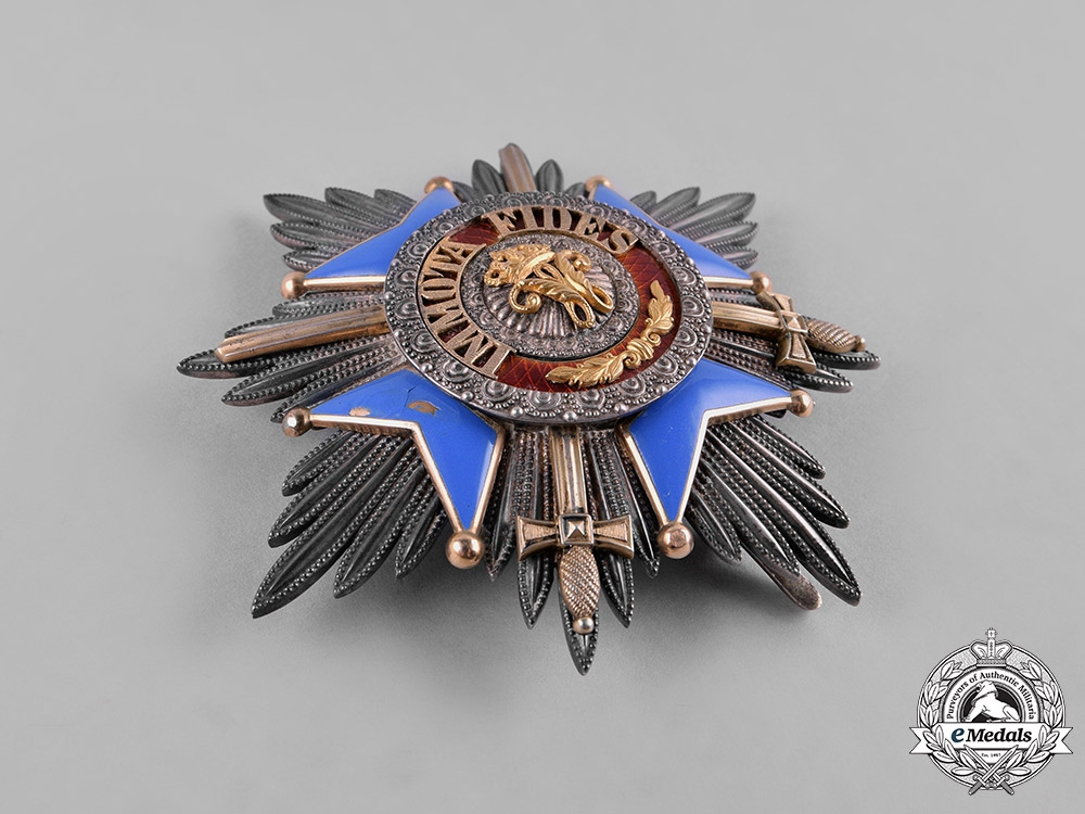 Braunschweig, Dukedom. A Haus Order of Henry the Lion, Grand Cross with Swords, by Hermann Jürgens, c.1914