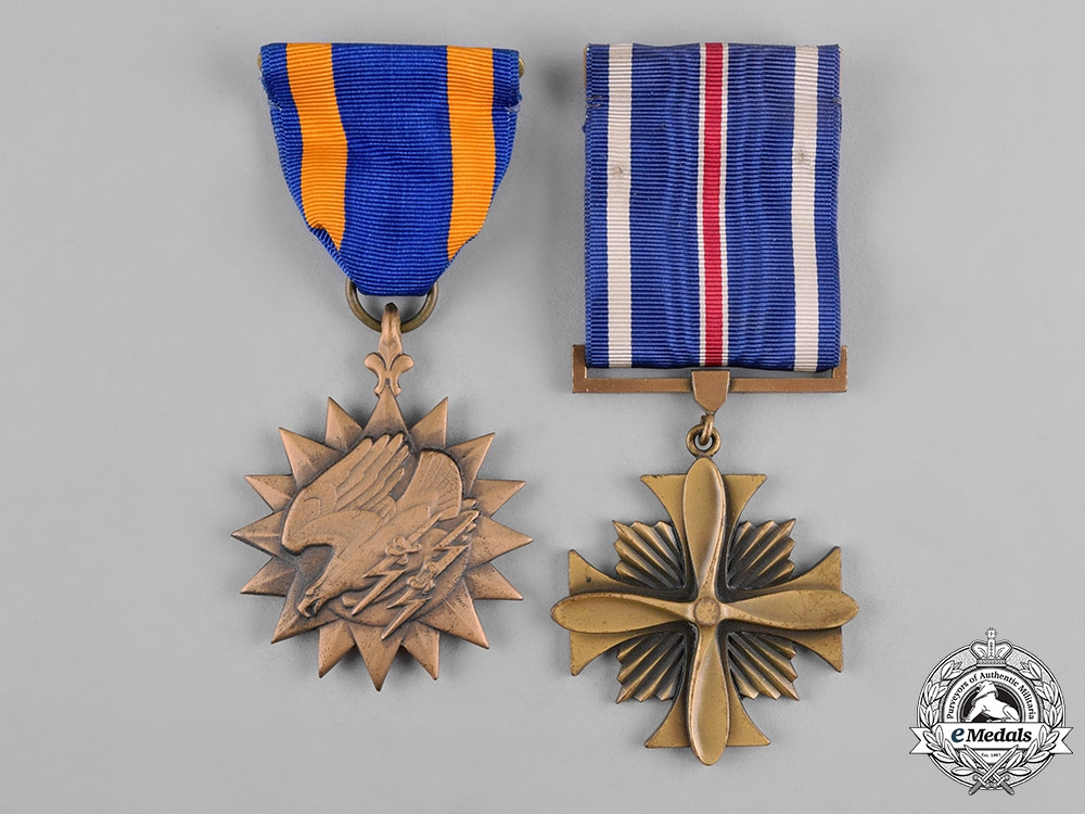 United States. Two Air Force Awards with Case, c.1950