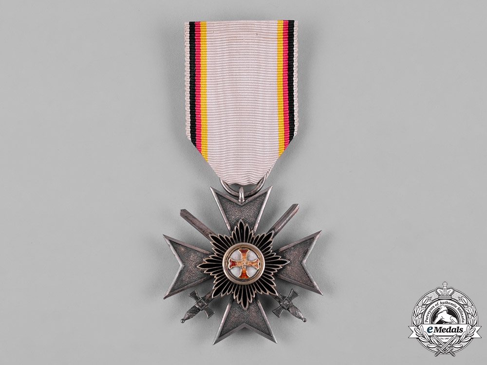 Waldeck, Principality. A Merit Cross, IV Class Knight with Swords, c.1915