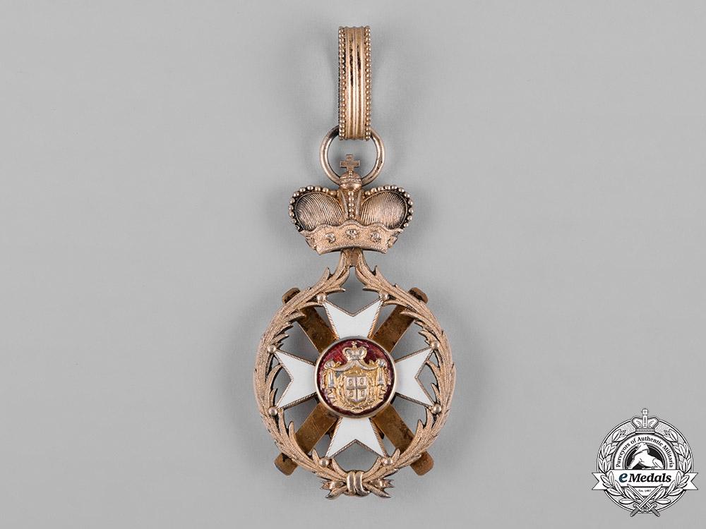 Serbia, Kingdom. An Order of the Cross of Takovo, III Class Commander, by Karl Flaischacker, c.1900