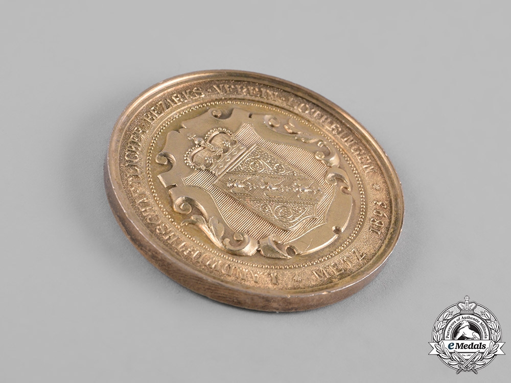 Germany, Imperial. An 1893 Lothringen (Lorraine) District Agricultural Association Medallion