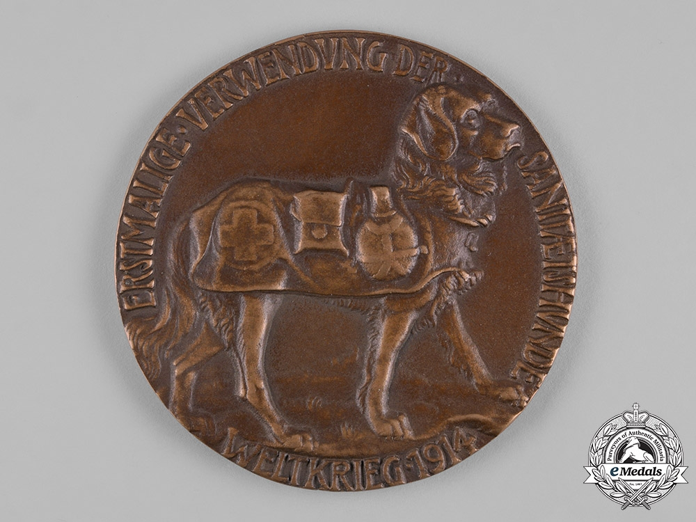 Germany, Imperial. A First War Period Medical Dog Table Medal by K. Goetz