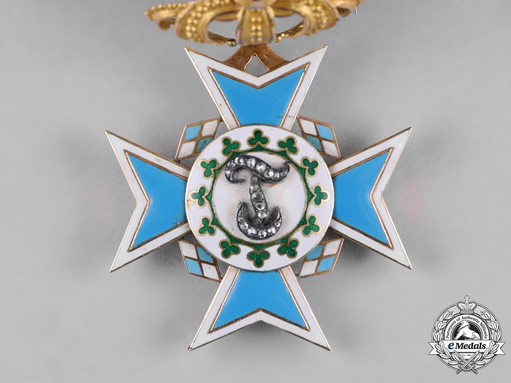 Bavaria, Kingdom. An Order of Theresa in Gold, Order-Cross with Diamonds, c.1880