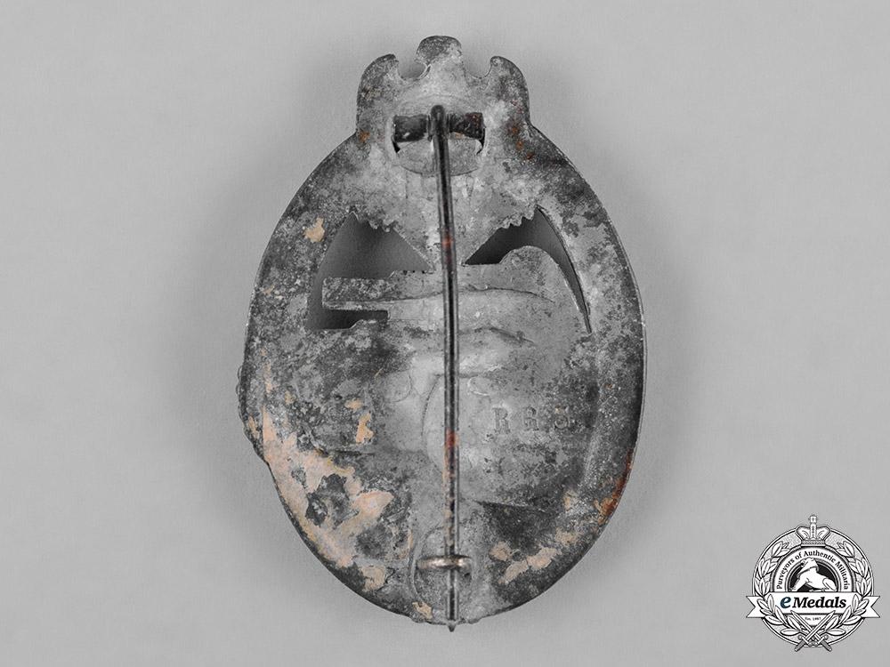 Germany, Heer. A Panzer Assault Badge, Silver Grade, by Rudolf Richter
