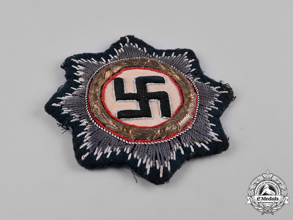 Germany, Wehrmacht. A German Cross in Gold, Cloth Version, by C.A. Westmann