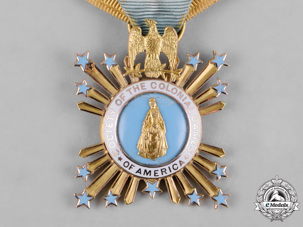 United States. An American Society of the Colonial Dames of America Badge, Mary Eugenie Martin 1903