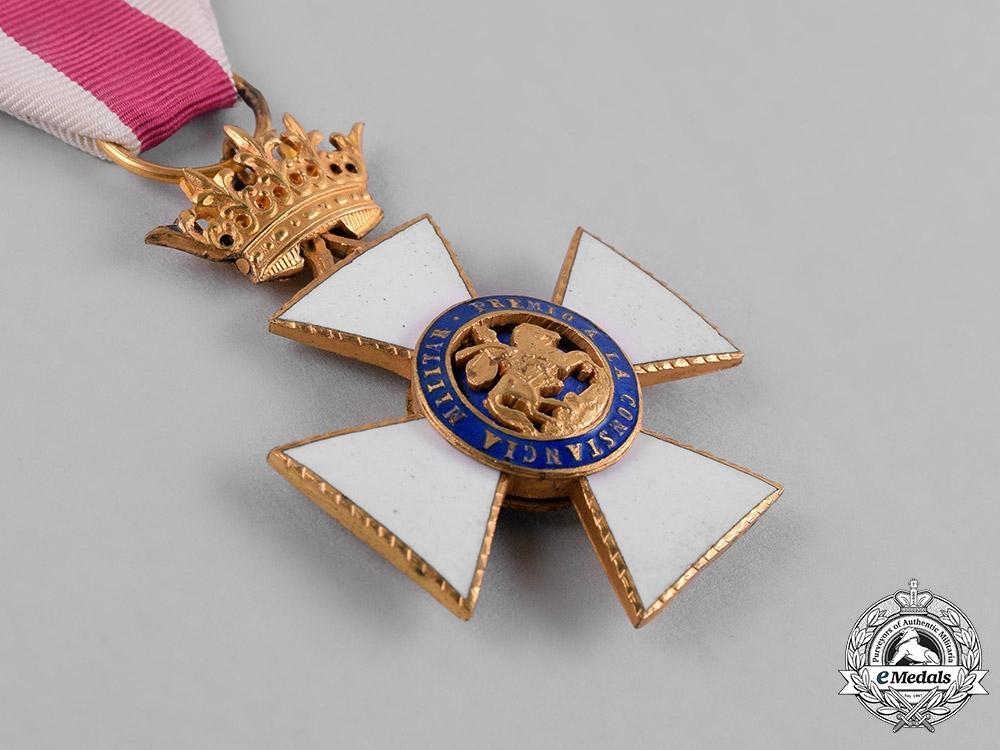 Spain, Franco Period. A Military Order of St. Hermenegildo, Gold Cross, c.1950