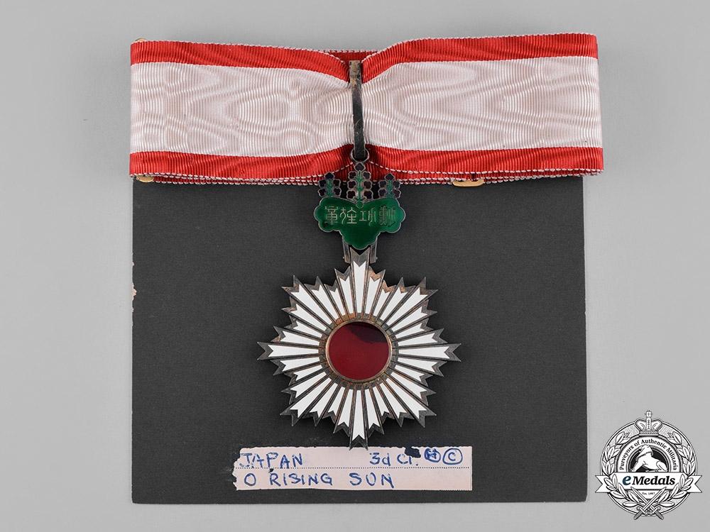 Japan, Empire. An Order of the Rising Sun, III Class Commander, c.1910