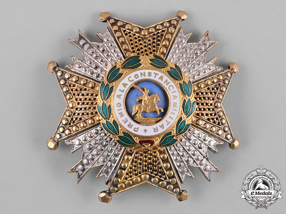 Spain, Franco Period. A Military Order of St. Hermenegildo, Commander's Star, c.1950