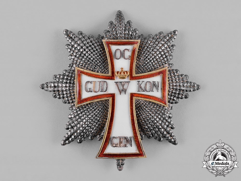 Denmark, Kingdom. An Order of Dannebrog, I Class Grand Cross Star, c.1915