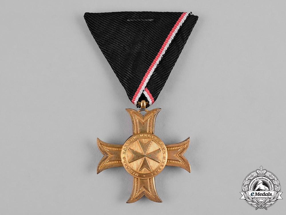 Austria, Imperial. A Sovereign Order of the Knights of Malta, Gold Merit Cross