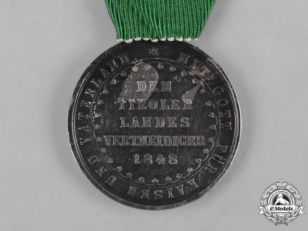 Austria, Imperial. A Medal for the Defence of Tirol 1848, by Lange