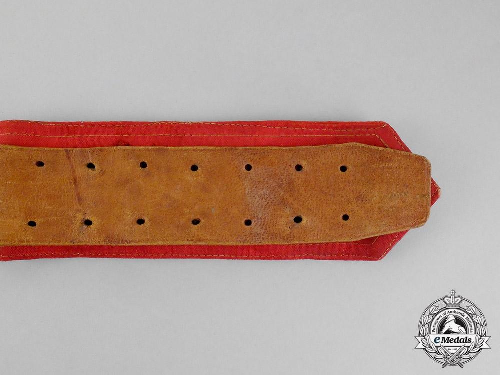 Spain, Franco Period. An Officer's Brocade & Cross Belt, c.1938